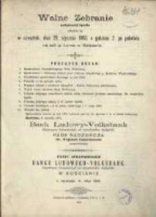 Sprawozdanie Banku Ludowego-Volksbank Eingetragene Genossenschaft mit Unbeschränkter Haftpflicht w Kościanie z Czynności w Roku 1902
