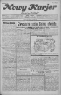 """Nowy Kurjer: dawniej """"Postęp"""" 1931.10.03 R.42 Nr228"""