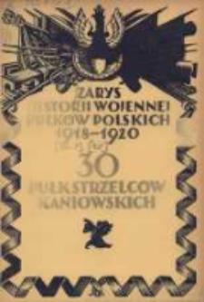 Zarys historji wojennej 30-go Pułku Strzelców Kaniowskich