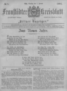 Fraustädter Kreisblatt. 1884.01.01 Nr1