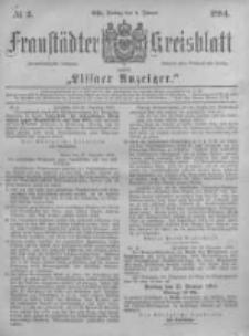 Fraustädter Kreisblatt. 1884.01.04 Nr2