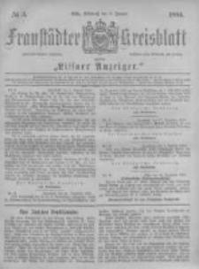 Fraustädter Kreisblatt. 1884.01.09 Nr3