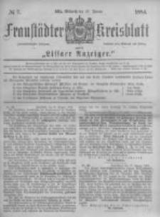 Fraustädter Kreisblatt. 1884.01.23 Nr7