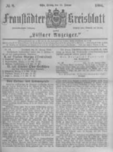 Fraustädter Kreisblatt. 1884.01.25 Nr8