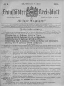 Fraustädter Kreisblatt. 1884.01.30 Nr9