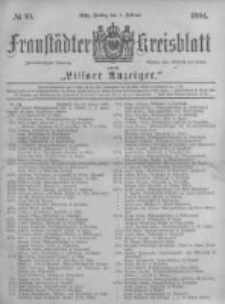 Fraustädter Kreisblatt. 1884.02.01 Nr10