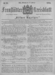 Fraustädter Kreisblatt. 1884.02.13 Nr13