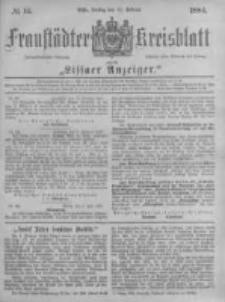 Fraustädter Kreisblatt. 1884.02.15 Nr14