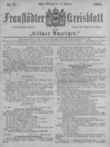 Fraustädter Kreisblatt. 1884.02.20 Nr15