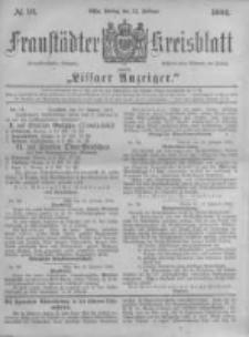 Fraustädter Kreisblatt. 1884.02.22 Nr16