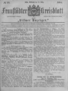 Fraustädter Kreisblatt. 1884.03.19 Nr23