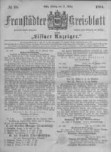 Fraustädter Kreisblatt. 1884.03.21 Nr24