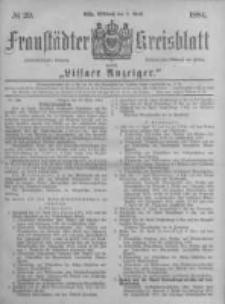 Fraustädter Kreisblatt. 1884.04.09 Nr29