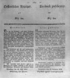 Oeffentlicher Anzeiger zum Amtsblatt No.20. der Königl. Preuss. Regierung zu Bromberg. 1838