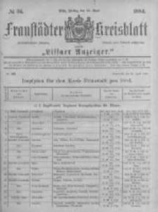 Fraustädter Kreisblatt. 1884.04.25 Nr34