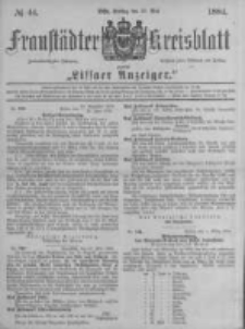 Fraustädter Kreisblatt. 1884.05.30 Nr44