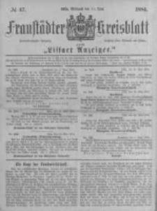 Fraustädter Kreisblatt. 1884.06.11 Nr47