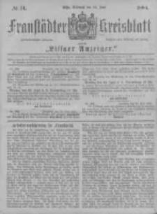Fraustädter Kreisblatt. 1884.06.25 Nr51