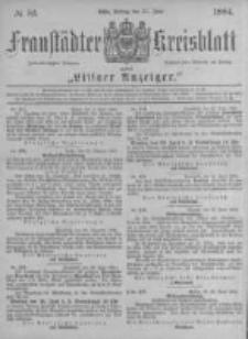 Fraustädter Kreisblatt. 1884.06.27 Nr52