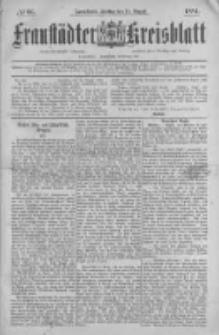 Fraustädter Kreisblatt. 1884.08.15 Nr66