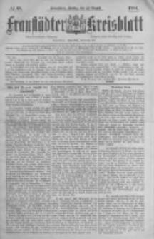 Fraustädter Kreisblatt. 1884.08.22 Nr68