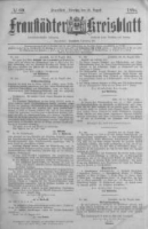 Fraustädter Kreisblatt. 1884.08.26 Nr69