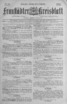 Fraustädter Kreisblatt. 1884.09.09 Nr73