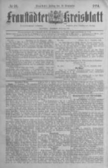 Fraustädter Kreisblatt. 1884.09.19 Nr76