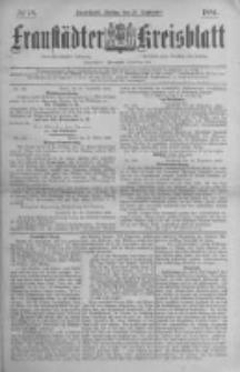 Fraustädter Kreisblatt. 1884.09.26 Nr78