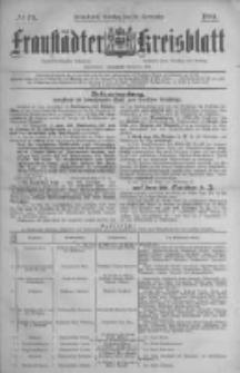 Fraustädter Kreisblatt. 1884.09.30 Nr79