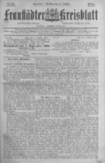 Fraustädter Kreisblatt. 1884.10.21 Nr85