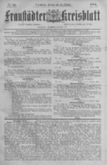 Fraustädter Kreisblatt. 1884.10.24 Nr86