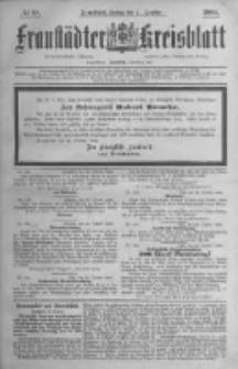Fraustädter Kreisblatt. 1884.10.31 Nr88