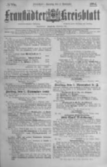 Fraustädter Kreisblatt. 1884.11.02 Nr88a