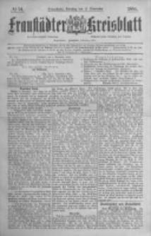 Fraustädter Kreisblatt. 1884.11.11 Nr91