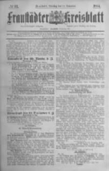 Fraustädter Kreisblatt. 1884.11.18 Nr93