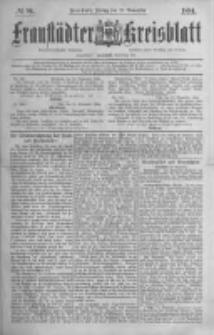 Fraustädter Kreisblatt. 1884.11.21 Nr94