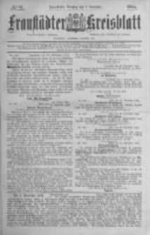 Fraustädter Kreisblatt. 1884.12.02 Nr97