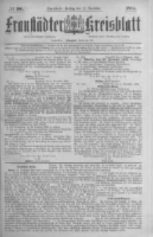 Fraustädter Kreisblatt. 1884.12.12 Nr100