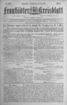 Fraustädter Kreisblatt. 1884.12.23 Nr103