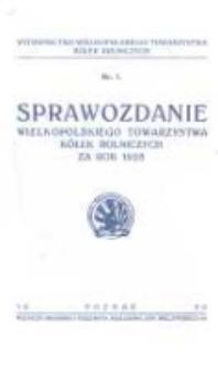 Sprawozdanie Wielkopolskiego Towarzystwa Kółek Rolniczych za rok 1928