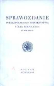 Sprawozdanie Wielkopolskiego Towarzystwa Kółek Rolniczych za rok 1932/33