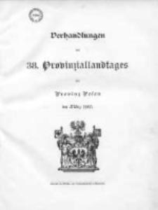 Verhandlungen des 38 Provinziallandtages der Provinz Posen im März 1905