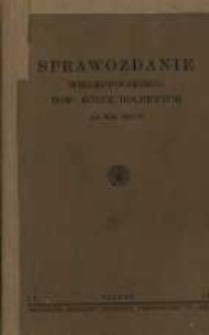 Sprawozdanie Wielkopolskiego Towarzystwa Kółek Rolniczych za rok 1937/38