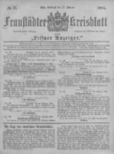 Fraustädter Kreisblatt. 1884.02.27 Nr17