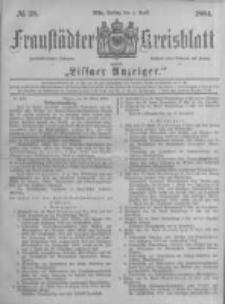 Fraustädter Kreisblatt. 1884.04.04 Nr28