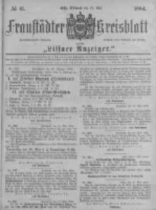 Fraustädter Kreisblatt. 1884.05.21 Nr41