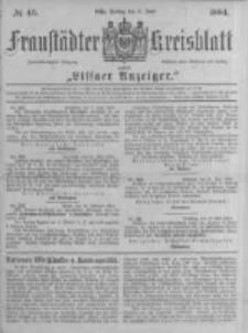 Fraustädter Kreisblatt. 1884.06.06 Nr46