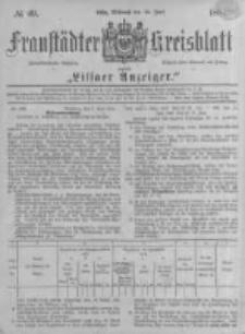 Fraustädter Kreisblatt. 1884.06.18 Nr49