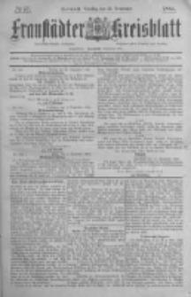 Fraustädter Kreisblatt. 1884.09.23 Nr77